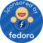 badge sponsored by fedora